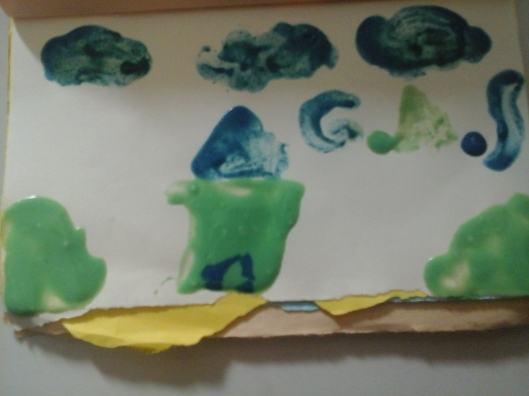 contoh gambar dari cat air yang dibuat dirumah